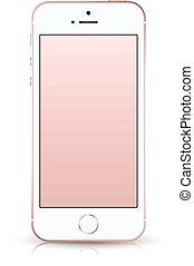 smartphone, iphone, stil, mockup.