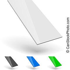 smartphone, isolé, arrière-plan., ui, gabarit, vide, blanc