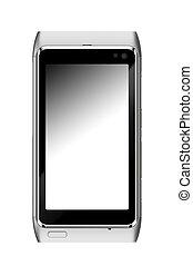 smartphone, isolado, branco