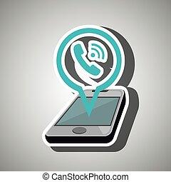 smartphone isolated icon design
