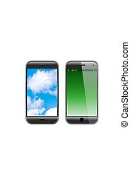 Smartphone isolated realistic vector illustration