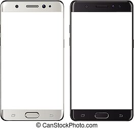 Smartphone isolated with blank screen - Smartphone, mobile...