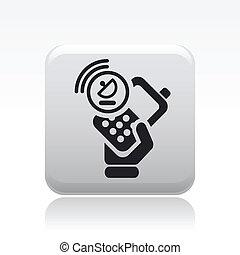smartphone, isolato, illustrazione, singolo, vettore, icona