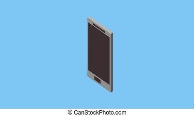 smartphone isometric concept