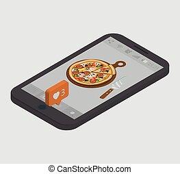 Smartphone. Isometric vector illustration.