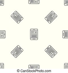 Smartphone learning pattern seamless vector