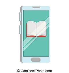 smartphone, libro electrónico