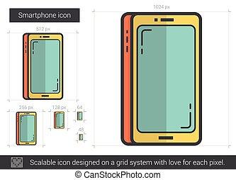 Smartphone line icon.