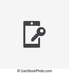 smartphone lock icon