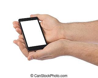 smartphone, mani