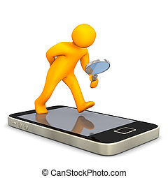 Smartphone Manikin Loupe - Maninkin with smartphone and...