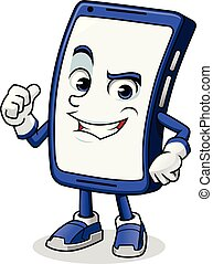 Smartphone Mascot Giving a Thumbs Up