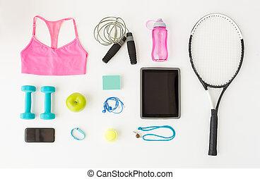 smartphone, materiał, pc, tabliczka, lekkoatletyka