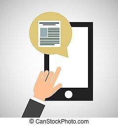 smartphone, media, app, file, sociale, icona