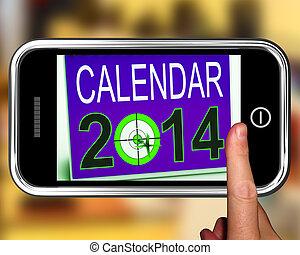 smartphone, missões, futuro, 2014, calendário, mostra
