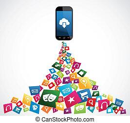 Smartphone mobile applications - Cloud computing download...