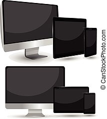 Smartphone Mobile black mockup 3dension vector