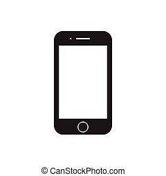 Smartphone, mobile icon. Flat design. Vector Illustration.