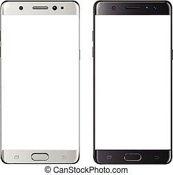 smartphone mockup blank mobile phone template frameless cellphone set