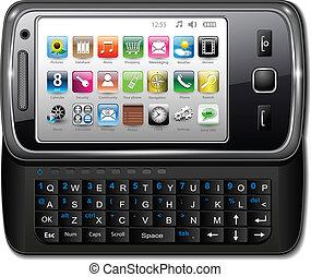 Smartphone, mobile phone - Smartphone, modern mobile phone...