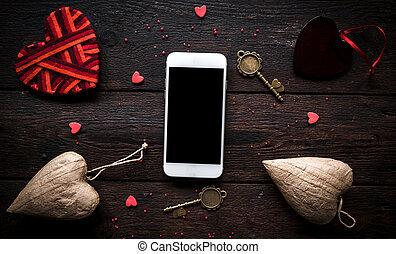 Smartphone mock Valentine's day