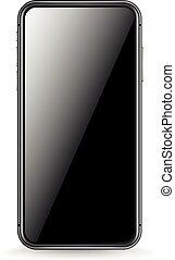 smartphone, mockup, gradient, écran, moderne, isolé, contenu, arrière-plan., vecteur, endroit, white., n'importe quel