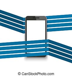 smartphone, moderno, vettore, fondo, logotipo, bandiera