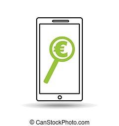 smartphone money concept