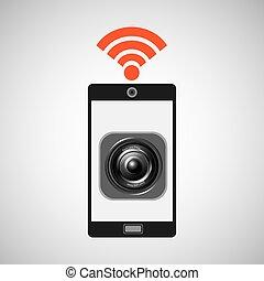 smartphone music internet wifi icon