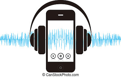 Smartphone Music Sound - This image is a vector file...