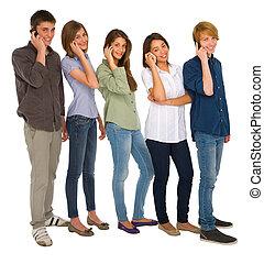 smartphone, nastolatki