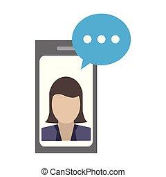 smartphone, negócio, conversa