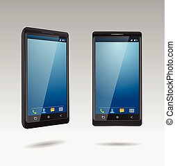 smartphone, noir