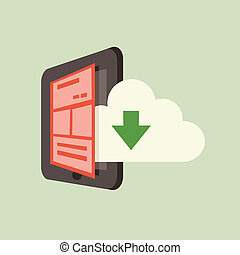 smartphone, nuage