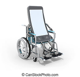 smartphone on a wheelchair