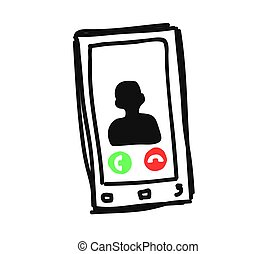 Smartphone on a white background. Vector.
