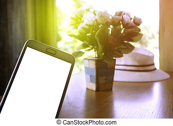 smartphone on table