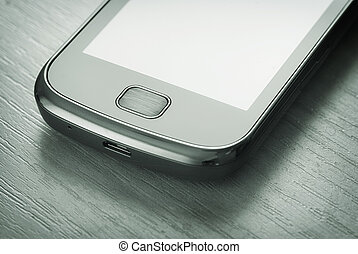 smartphone on the table