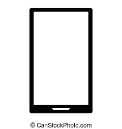 Smartphone on white background, vector icon