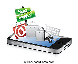 smartphone online shopping concept