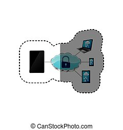 smartphone padlock cloud security