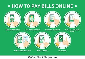 smartphone, paga, cómo, en línea, utilizar, cuentas