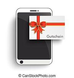 Smartphone Paper Gutschein