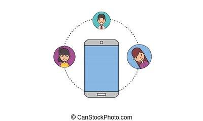 people net work - smartphone people net work content digital