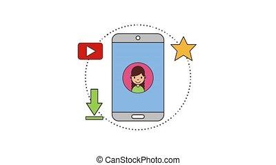 people net work - smartphone people net work share video...