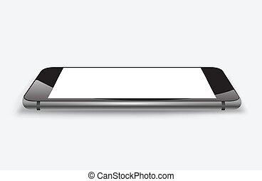 smartphone, perspektywa, mockup
