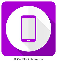 smartphone pink flat icon phone sign