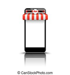 Smartphone Red White Awning Black Friday