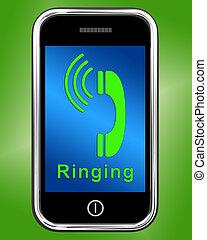 smartphone, resonante, llamada telefónica móvil, exposiciones, icono