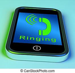 smartphone, resonante, móvil, actuación, llamada telefónica, icono